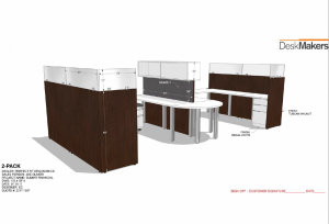 CAD Cubicle Renderings