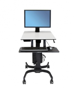 ErgoTron WorkFit-C, Single HD Mobile Sit-Stand Workstation